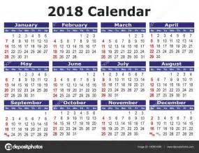Panama Calendã 2018 简单的矢量日历 2018 图库矢量图像 169 Alfonsodetomas 140901896