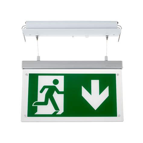 Lu Emergency Led Timezone v tac 16 leds recessed hanging emergency led exit light