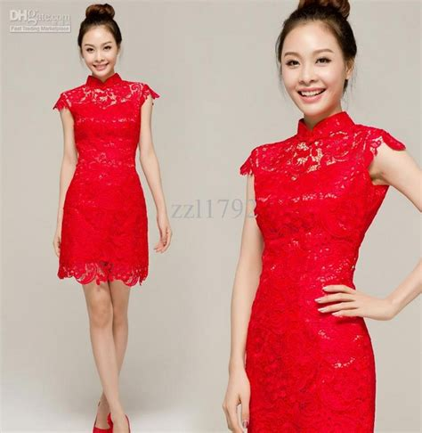 Dress Mei Mei Cheongsam Polos Merah Model Dan Gambar Cheongsam Dress Modern