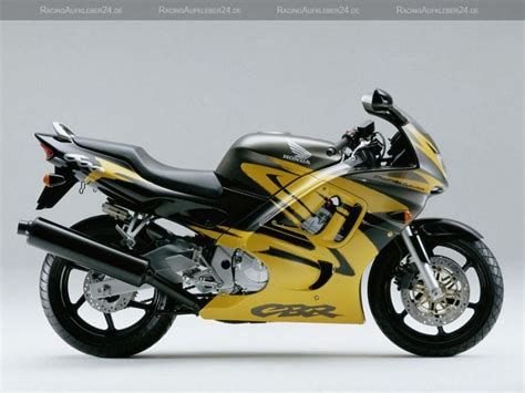 Honda Cbr 600 F3 1997 Yellow Black Version Decalset