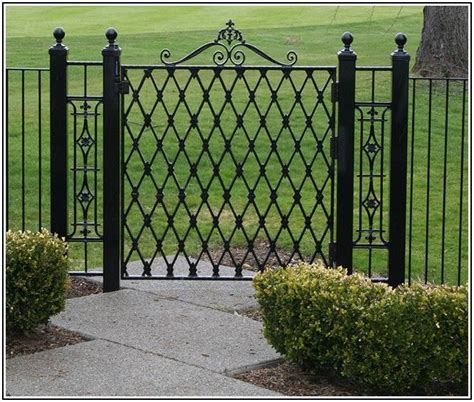 44 Best Images About Fence On Pinterest Wrought Iron Metal Garden Fencing Ideas