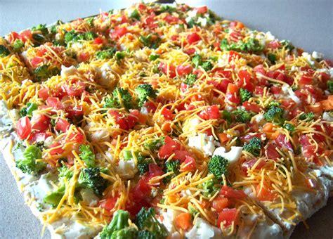 vegetables pizza shoregirl s creations vegetable pizza and crust recipe