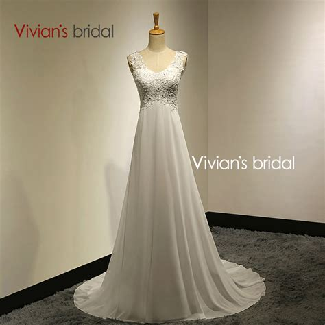 aliexpress wedding dress vivians bridal summer sexy lace appliques chiffon beach