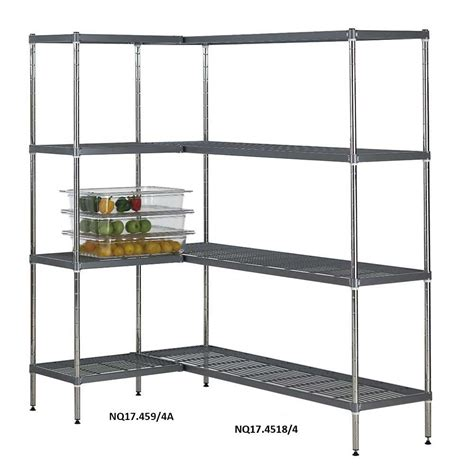 Quartermaster Airdeck Nylon Wire Shelving Bays With 4 Shelves Wire Shelving Racks