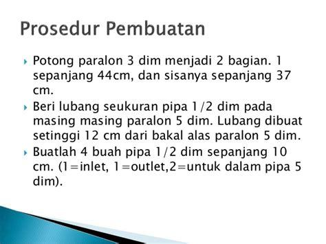 Paralon Maspion 3 Dim laporan rekling saringan air sederhana kelompok 1