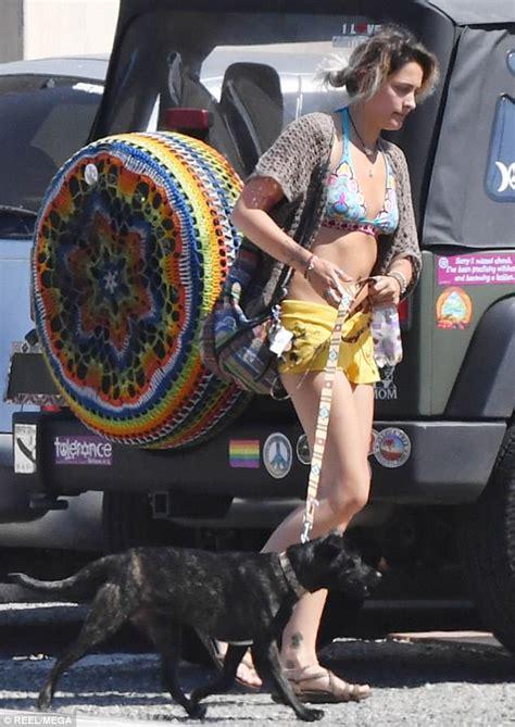 paris jackson jeep paris jackson shows off toned tummy in bikini top daily