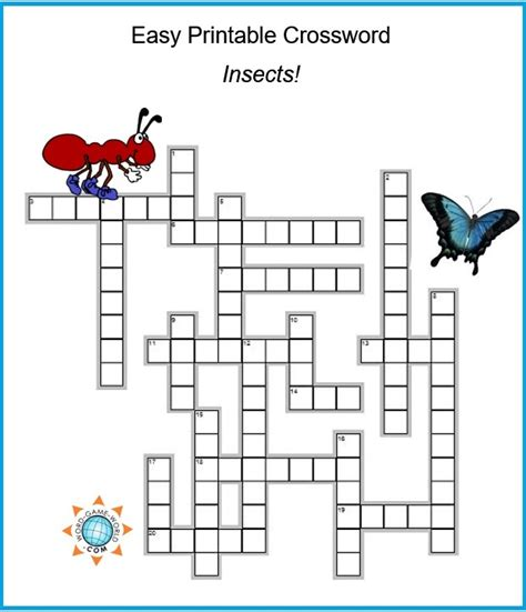 cussword puzzles crosswords for adults not your gramma s puzzles crossword puzzles and word searches volume 1 books easy printable crossword all about insects