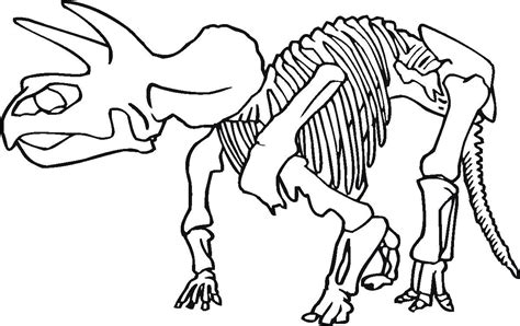 dinosaur bones coloring pages children gekimoe 117287