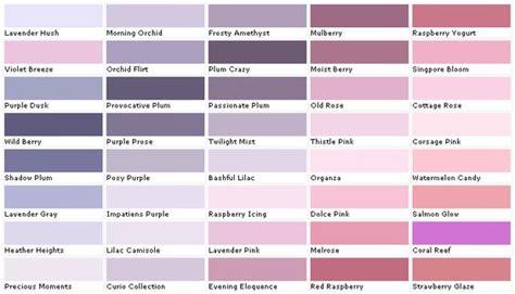 lavender paint color lavender paint colors chart senour paint colors house