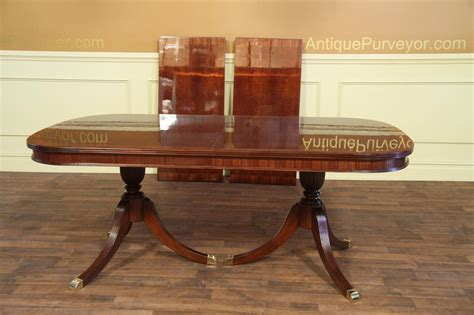 duncan phyfe double pedestal mahogany dining table high formal double pedestal mahogany dining table with 2 leaves