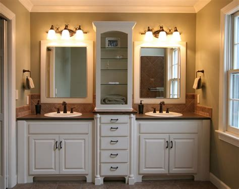 Master Bathroom Cabinet Ideas How To Decor A Small Blue Master Bath Actual Home