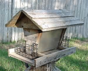 Barn Bird Feeder Vintage Bird Feeder Weathered Large Barn Wood By