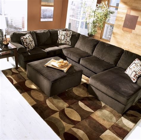 chocolate brown microfiber ottoman chocolate brown sectional sofa 9909ch comfort sectional