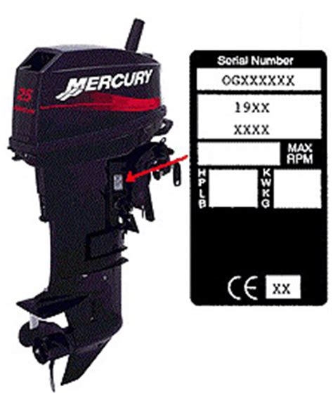 mercury boat motor serial number outboard engine serial number year match up page 1