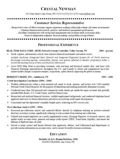 how to write a perfect customer service representative resume