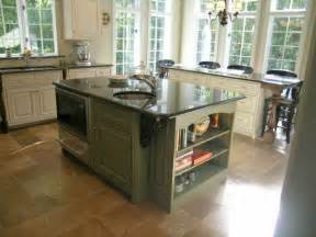 Green Kitchen Islands by Maple Wood Kitchen Cabinets In Sage Green And Harricana