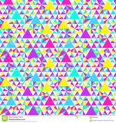 geometric neon pattern abstract geometric pattern neon colors cartoon vector