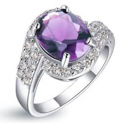 purple wedding rings fashion purple engagement rings with a large amethyst cz