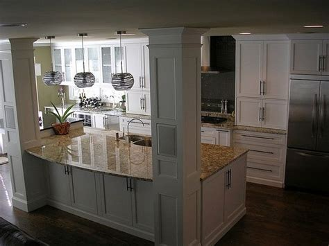 kitchen islands with pillars another one kitchens and kitchen island with columns pin your home love the