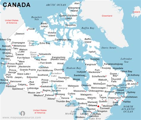 map of canada with major cities free canada cities map cities map of canada open source