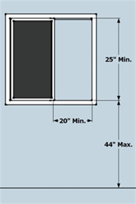 minimum window size for basement bedroom residential egress door requirements
