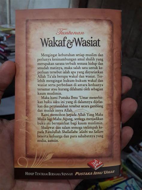 Buku Saku Shalat Lebih Baik Daripada Tidur Pustaka Ibnu Umar buku saku tuntunan wakaf dan wasiat toko muslim title