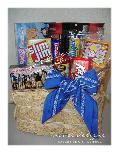 custom wild west cowboy gift basket birthday