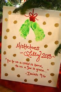 easy diy mistletoes baby feet christmas craft target gift