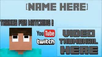 Minecraft Outro Template Maker by Minecraft Outro Template Windows Maker