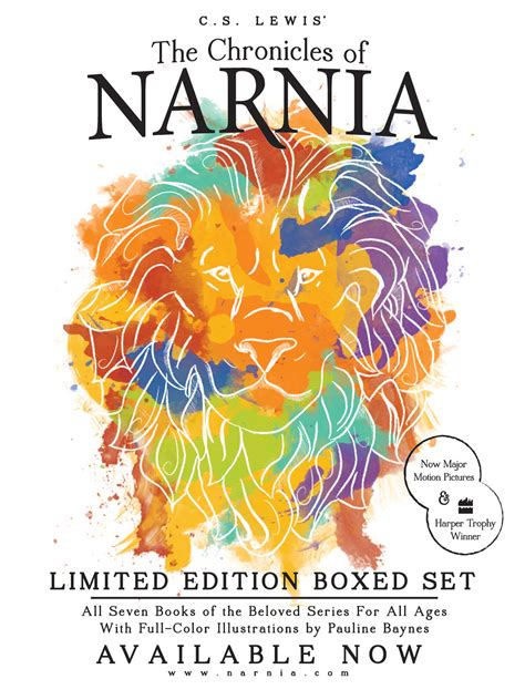 0007528094 the chronicles of narnia boxed narnia boxed set on behance