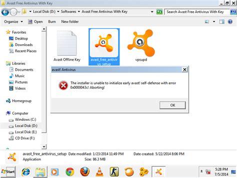 Instal Anti Virus 64 bit cannot install any antivirus software in windows 7 64 bit user
