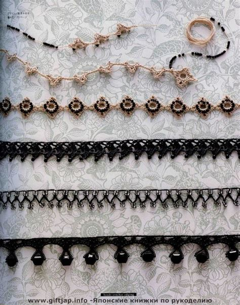 crochet beaded edging patterns 17 best ideas about crochet jewelry patterns on