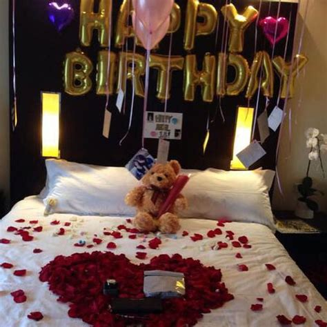 how to surprise him in bed 25 best ideas about romantic birthday on pinterest