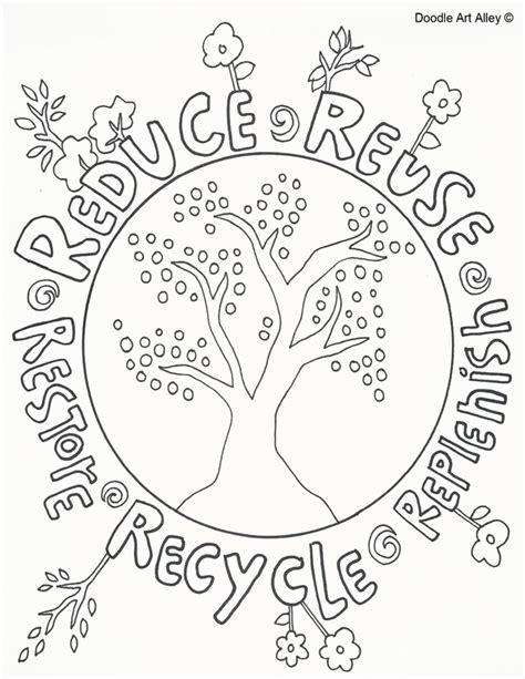 coloring pages for recycle reduce reuse reduce reuse recycle doole social studies hass