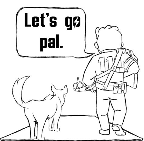 Fallout 4 Coloring Pages by Fallout 4 Coloring Related Keywords Fallout 4 Coloring