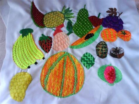 bordados de frutas en servilletas como bordar servilletas a mano de frutas imagui