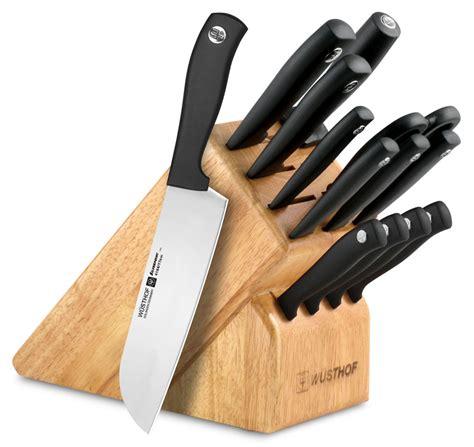wusthof knife set wusthof silverpoint ii deluxe knife block set 14