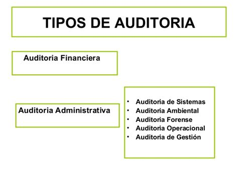 tipos de auditoria la auditoria financiera