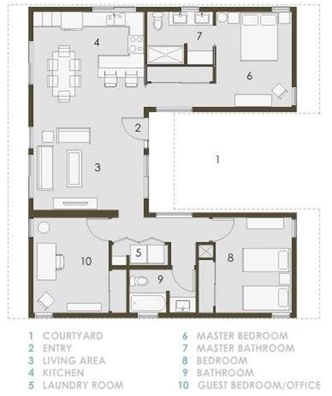 small house plans with courtyards 25 best ideas about u shaped houses on u