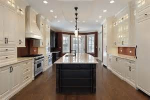 galley style kitchen with island 53 spacious quot new construction quot custom luxury kitchen designs