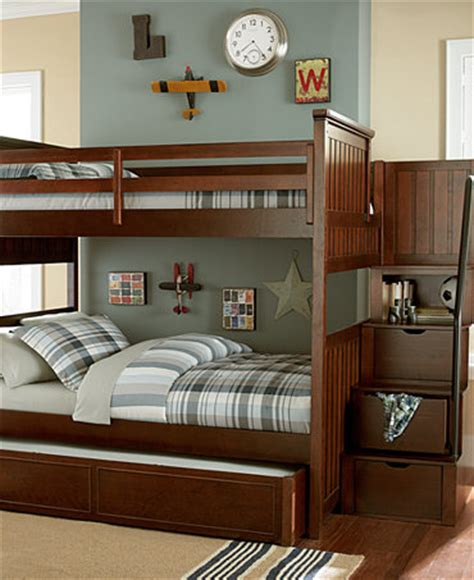 macys bunk beds huntsworth twin over twin kids cherry bunk bed furniture