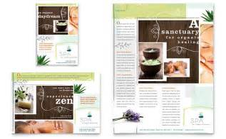 day spa flyer amp ad template design