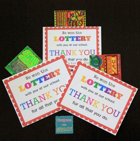 Fun Gifts Ideas by Teacher Appreciation Idea Lottery Tickets