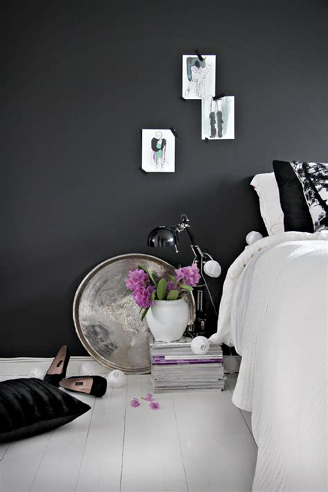 black bedroom wall stylish girlish bedroom design inspiration with black