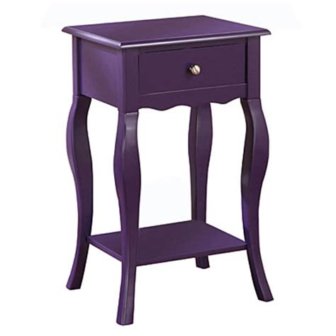 Purple Accent Table | view purple one drawer accent table deals at big lots