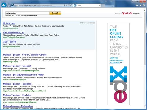 Link Lookup Remove Www1 Dlinksearch Redirect Removal Guide