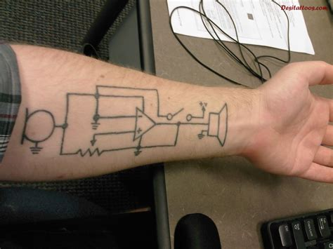 circuit tattoo left forearm chip circuit