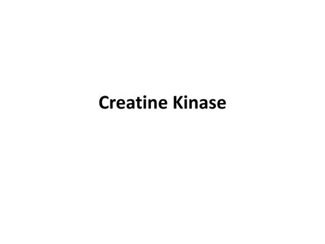 is creatine kinase ppt diagnostic blood tests and their meaning powerpoint