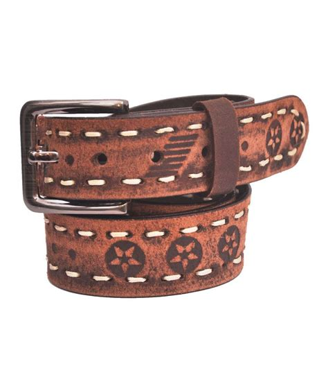 cowboy brown leather casual belt buy at low price