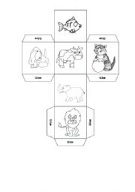printable animal dice english teaching worksheets dice games